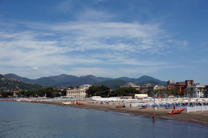 Playa en Liguria
