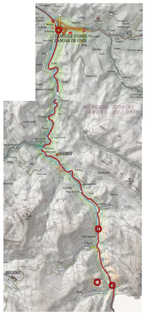 Mapa Ruta Casielles
