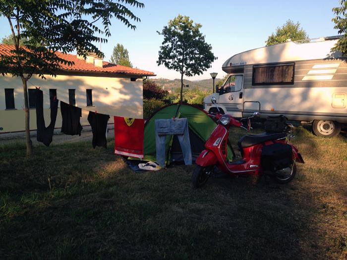 Colada en camping de Arezzo