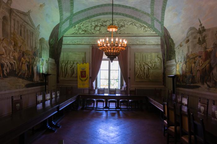 Lucignano, Sala de Juntas del Consistorio
