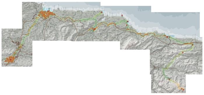 Mapa Ruta Oviedo - Covadonga