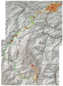Mapa Ruta Oviedo - Gamoniteiro