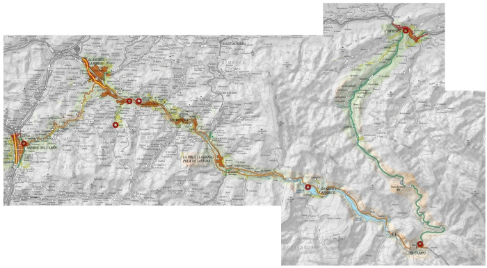 Mapa Ruta Mieres - Infiesto