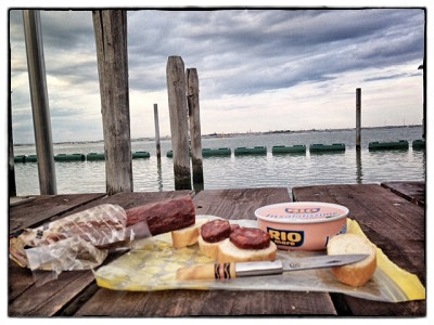 Cena frente a Venecia