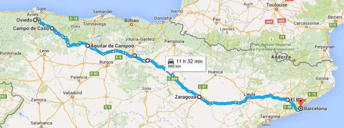 [cc2015] Etapas 1 y 2: Oviedo - Barcelona