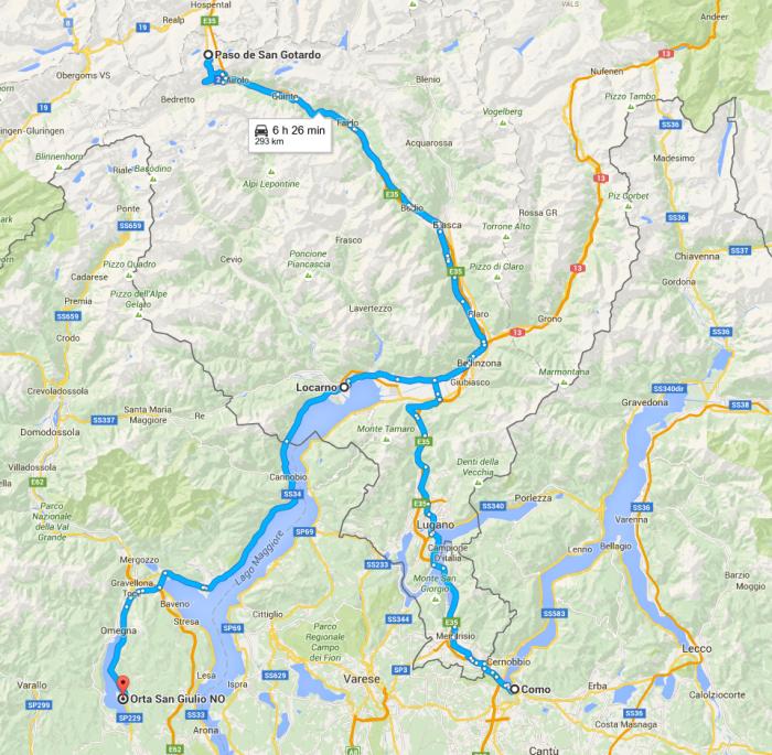 Etapa 5: Lagos del norte italiano y Passo de San Gottardo