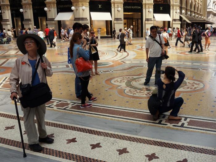 Turistas chinos en Milán