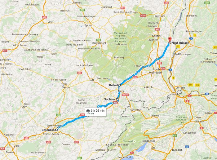 Etapa 8 - de Besançon a Colmar
