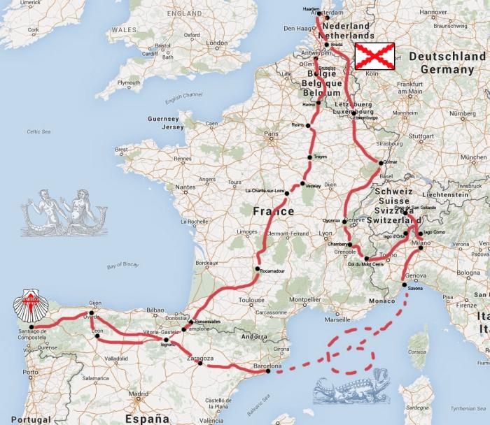 CC2015 ruta - mapa completo