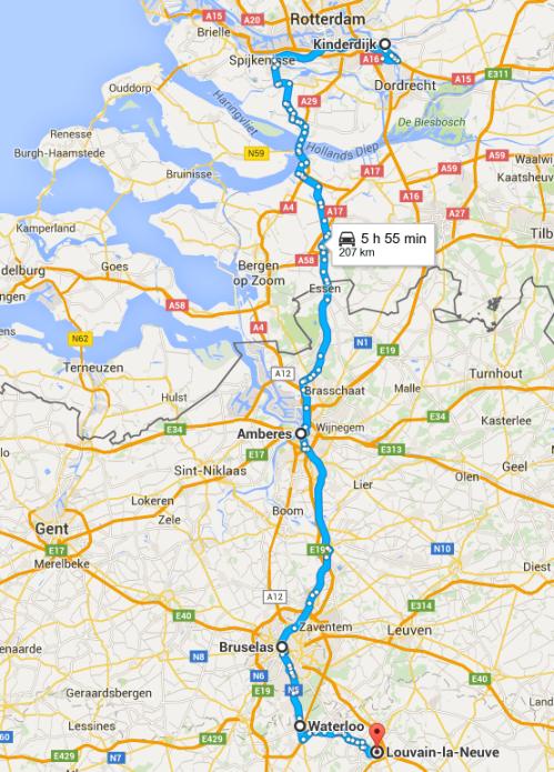 Etapa 13 de Kinderdijk (Holanda) - Louvain-la-Neuve (Bélgica)
